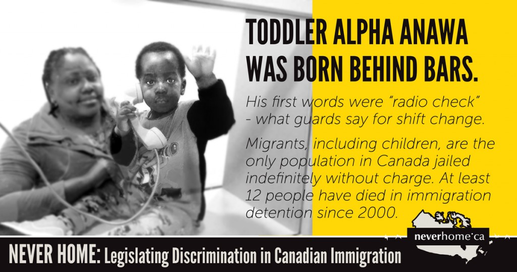 Over the past nine years the Canadian government jailed 87,317 migrants, including hundreds of children, without charges.